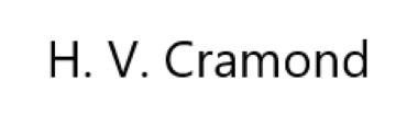 H. V. Cramond